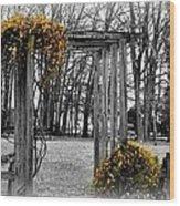 Flowering Archway Wood Print