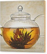 Flowering Blooming Tea Wood Print