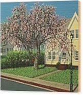 Flowering Crab Apple Tree Wood Print