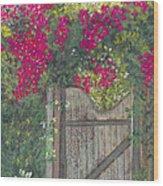 Flowering Gateway Wood Print