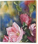 Flowering Maple Wood Print