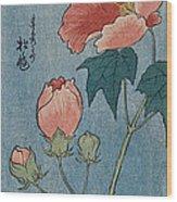 Flowering Poppies Tanzaku Wood Print