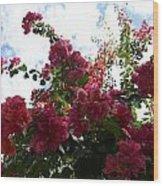 Flowering Skyward Wood Print