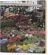 Flowermarket - Tours Wood Print