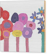 Flowers 1 Wood Print by Don Larison