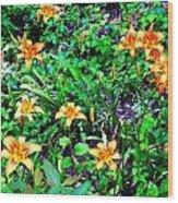 Flowers 2 Wood Print by Dietrich ralph  Katz