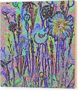 Flowers A1a Wood Print