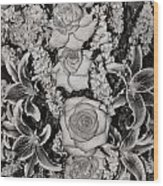 Flowers Abstract Wood Print