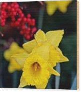 Flowers And Berries 030515aa Wood Print