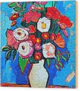 Flowers And Colors Wood Print by Ana Maria Edulescu