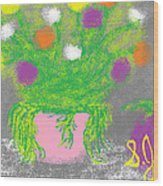 Flowers And Fruit Wood Print by Joe Dillon