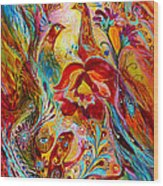 Flowers And Fruits Wood Print by Elena Kotliarker