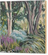 Flowers And Shade Wood Print