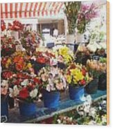 Flowers At The Market Wood Print