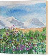 Flowers At Wolf Creek Wood Print