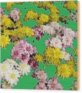 Flowers Everywhere Wood Print