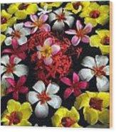 Flowers Floating Wood Print