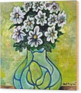 Flowers For Jenny Wood Print