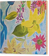 Flowers For Mom Wood Print