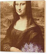 Flowers For Mona Lisa Wood Print