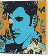 Flowers For The King Of Rock And Roll Wood Print
