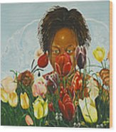 Flowers For You Mama Wood Print