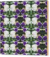 Flowers From Cherryhill Nj America White  Purple Combination Graphically Enhanced Innovative Pattern Wood Print