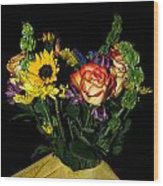 Flowers From The Heart Wood Print