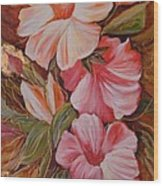 Flowers II Wood Print