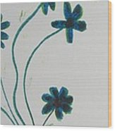 Flowers In A Jade Vase Wood Print