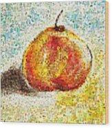Flowers In A Mosaic Apple Wood Print