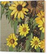 Flowers In Fall 2 Wood Print