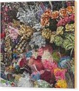 Flowers In Florist Wood Print
