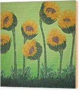 Flowers In Menopause  Wood Print