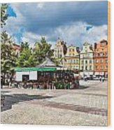 Flowers In Salt Square - Wroclaw Poland Wood Print