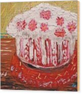 Flowers In The Frosting Wood Print