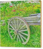 Flowers In A Wagon Wood Print