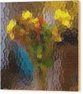 Flowers In Vase - Still Life Wood Print