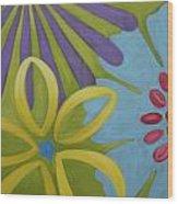 Flowers Iv Wood Print