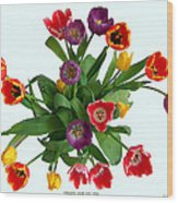 Flowers  Just  For  You Wood Print