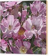 Flowers- Mass Roses Wood Print