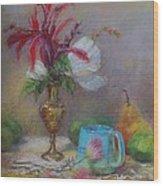 Flowers  Wood Print by Nancy Stutes
