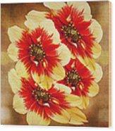 Flowers Of Flowers Wood Print