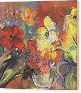 Flowers Of Joy Wood Print