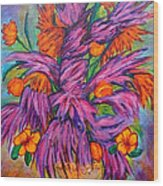 Flowers Of Passion Wood Print