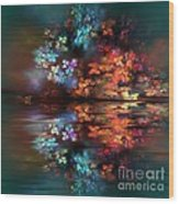 Flowers Of The Night Wood Print