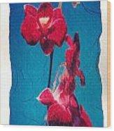 Flowers On Watercolor Paper Wood Print