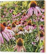 Flowers Standing Tall Wood Print