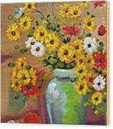 Flowers - Still Life Wood Print
