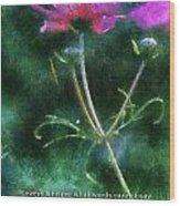 Flowers Whisper 02 Wood Print